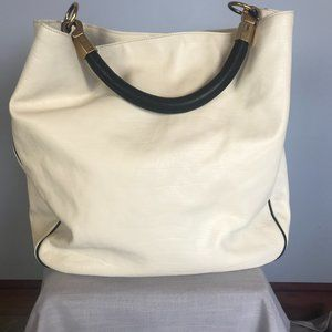 NWT -Yves Saint Laurent White Roady Hobo